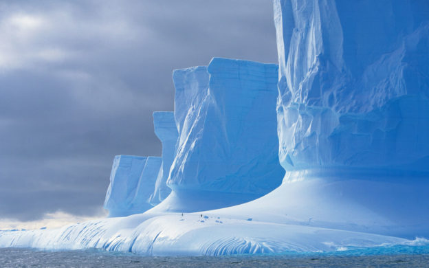Iceberg shaped by melting, Drake Passage, Palmer Peninsula, Antarctica